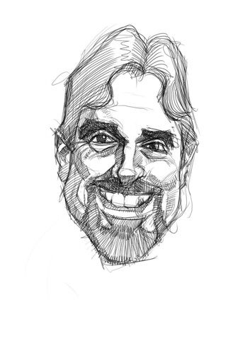 digital sketch of Mark Bruton - 2