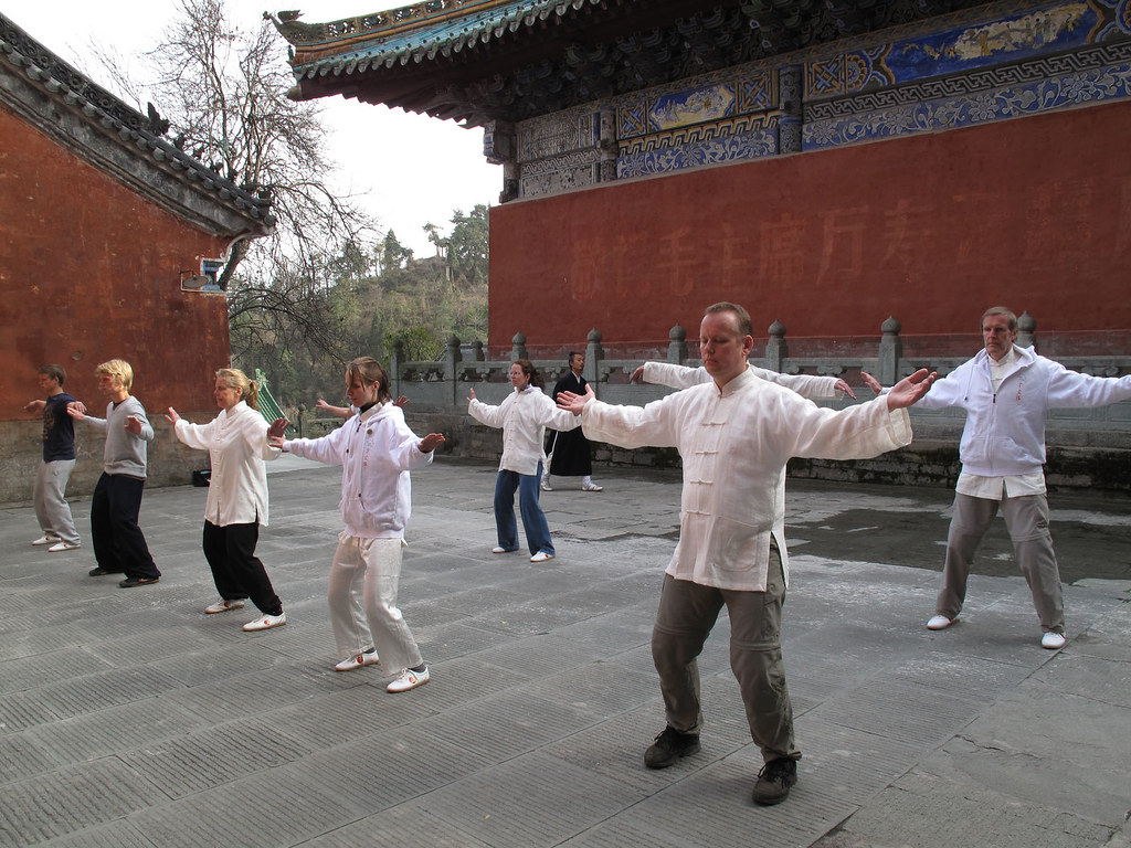 Qigong practice at The Purple Temple in Wudang