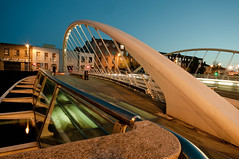 The James Joyce Bridge (Mick H 51) Tags: 2003 longexposure blue ireland dublin architecture night canon river island eos design place shot sigma liffey clear hour quays 1020 ushers santiagocalatrava jamesjoyce blackhall 450d
