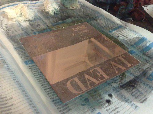 Copper plates for 800 Memories Per Minute cover art