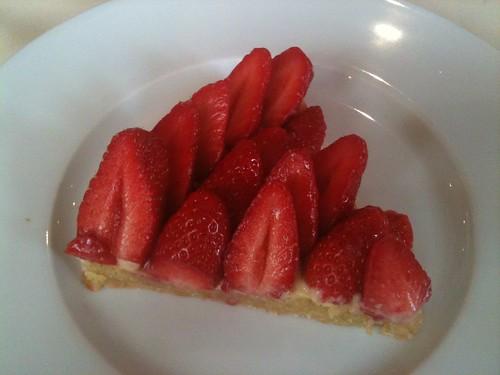 Drouant: Tarte aux fraises
