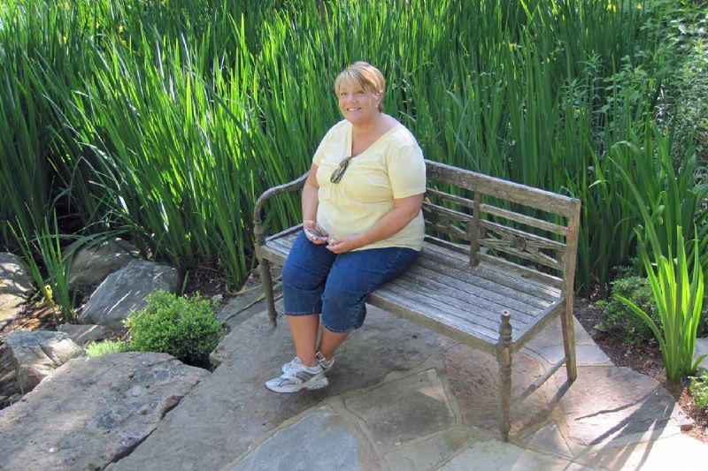 Gina on Bench