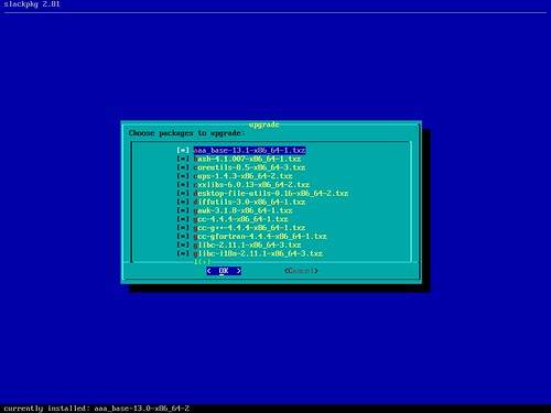 Mises à jour post installation de la Slackware 13.1rc1