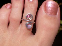 Pink Icing Toe Ring (88Links) Tags: feet foot toes toe tucson handmade jewelry ring summertime etsy toering toerings frun