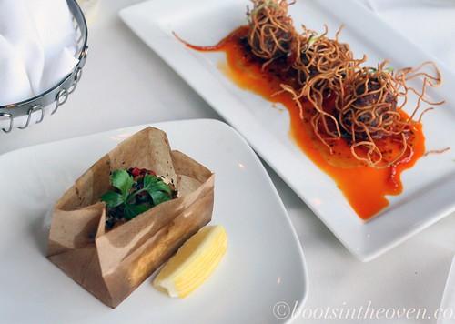 Baked Feta & Vietmanese Meatballs
