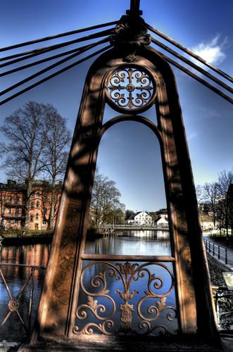 Uppsala. Arco de un puente.