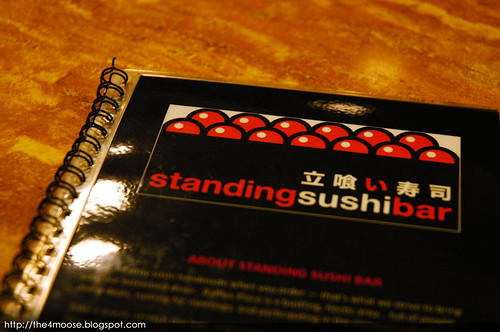 Standing Sushi Bar - Menu