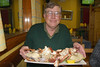 Paul with his Crab Feast