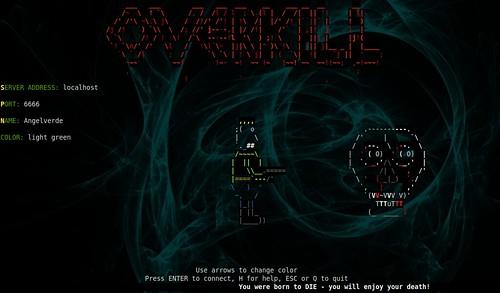 OverKill pantalla de Bienvenida