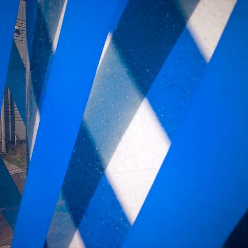 Blue Criss Cross Swirl