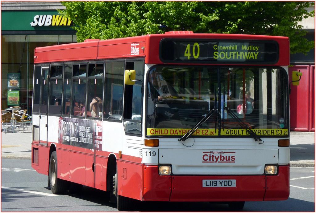 Plymouth Citybus 119 L119YOD