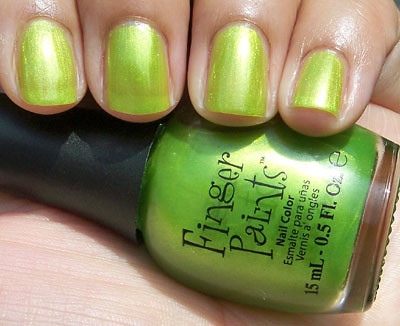 Green Lime fruit nail design ideas