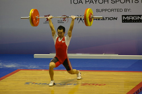Weightlifting - Singapore competing
