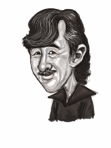 Drawing on iPad - George Lam caricature