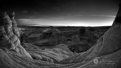 Sunrise at Arches in B/W