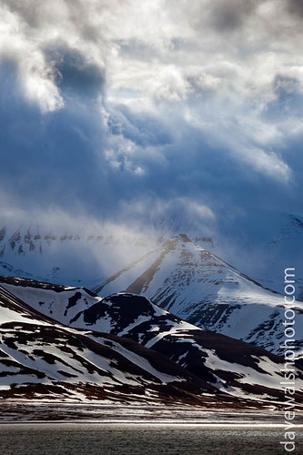 Dramatic clouds over mountains, Svalbard