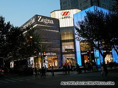 More luxury brand stores