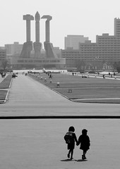 Two kids in Pyongyang - North Korea (Eric Lafforgue) Tags: kids children war asia korea explore asie coree northkorea pyongyang dprk coreadelnorte 3508 nordkorea    coreadelnord   insidenorthkorea  rpdc  kimjongun coreiadonorte