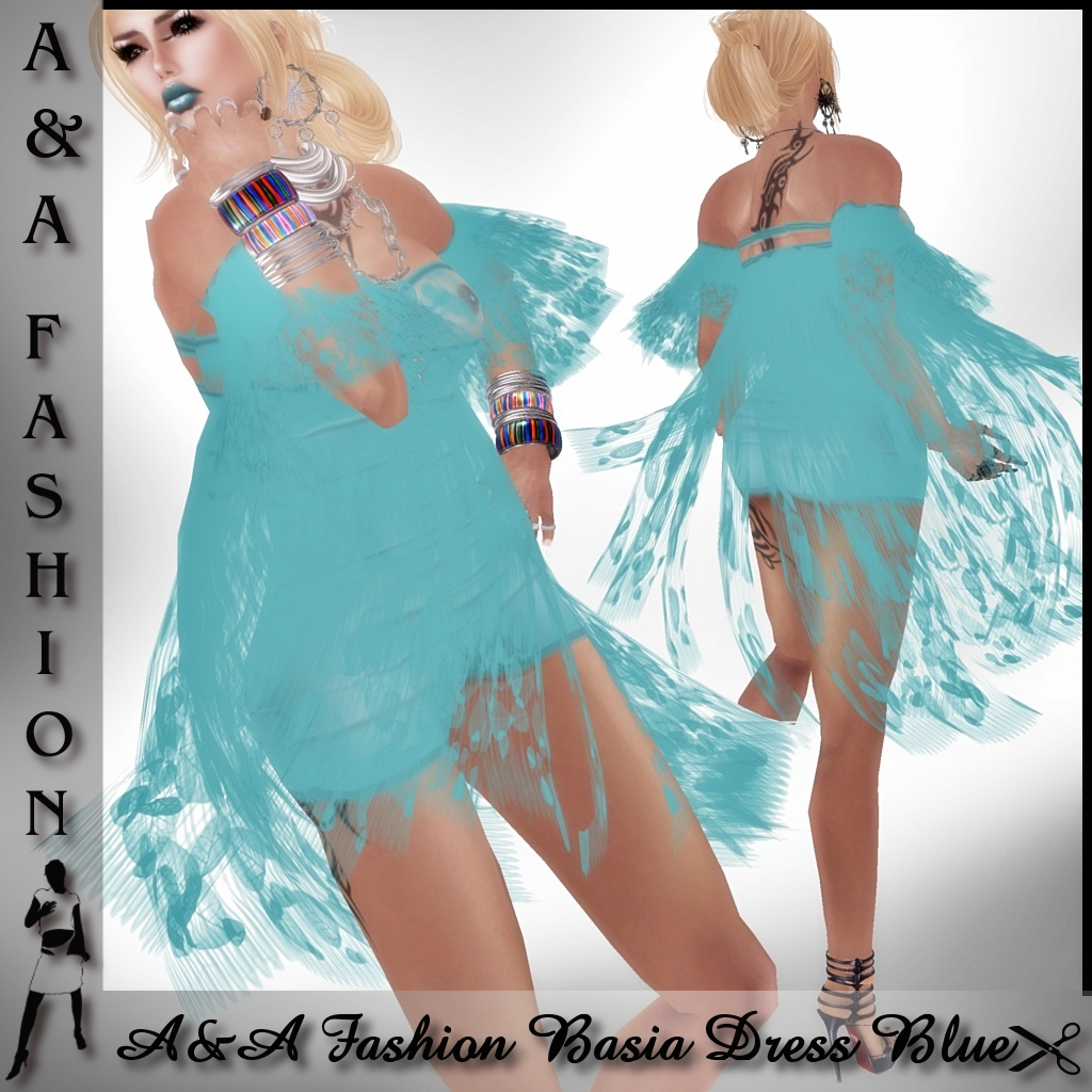 A&A Fashion Basia Dress Blue
