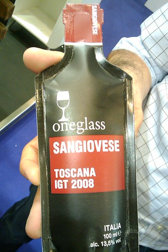 Wine in one glass tube, is this the way to go?