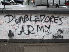 Dumbledore's Army graffiti