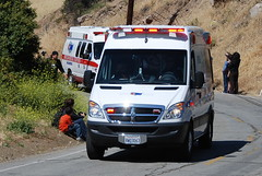 AMERICAN MEDICAL RESPONSE (AMR) AMBULANCE (Navymailman) Tags: california bicycle race tour stage 8 ambulance hills medical american dodge oaks thousand toc amgen 2010 response amr sprinter americanmedicalresponse augora