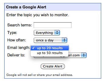 Google Alerts Algorithm Change