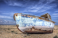 FE25 Wreck (ShrubMonkey (Julian Heritage)) Tags: sky abandoned beach boat decay dungeness wreck fishingboat hdr wwb wwh photographyrocks colorphotoaward flickraward fe25 mygearandme