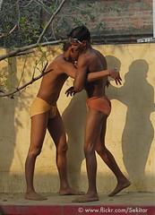 Kushti Wrestlers, Tulsi Ghat Akhara, Varanasi (Sekitar) Tags: boy shadow shirtless india man male sport training wrestling indian varanasi wrestler tulsi benares ghat akhara sekitar kusthi kushti kusti earthasia pehlwani