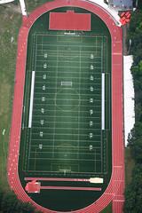 Highland Park High School track and field (dougschneiderphoto) Tags: school usa sports field football newjersey track nj aerial highschool blimp airship metlife dirigible snoopyone highlandparkhighschool