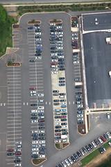 parking lot (dougschneiderphoto) Tags: usa cars car newjersey parking nj lot aerial blimp airship metlife edison dirigible snoopyone