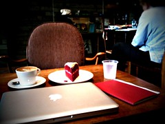Mid-afternoon Work and Snack, Black Coffee, TripeOne Somerset