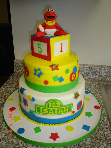 Elmo Baby Shower Cake