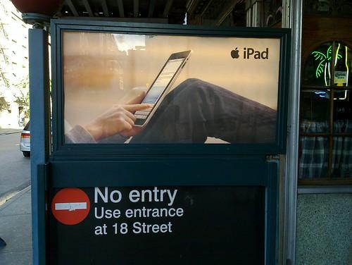 Pub pour l'iPad: saisie interdite