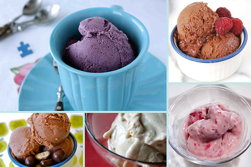 ice cream collage dairy free