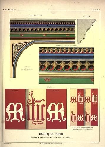20-Cruces y monogramas del techo de la capilla-Iglesia Ufford-Suffolk-Gothic ornaments.. 1848-50-)- Kellaway Colling