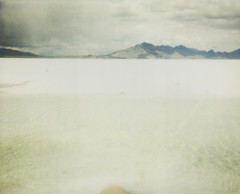 bonneville salt flats | may 24. 2010 (A Midwest Girl) Tags: white mountains film analog polaroid utah salt roadtrip 1200 analogue spectra greatbasin instantfilm bonnevillesaltflats polaroidfilm silverislandmountains integralfilm polaroidtype1200 sometimessherambles