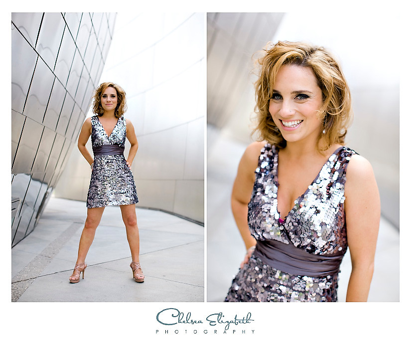 Silver disco walt disney concert hall portrait
