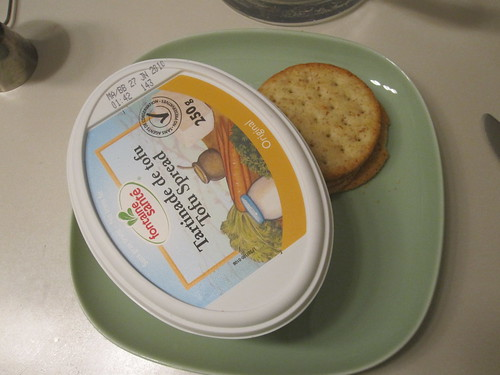 tofu spread and crackers