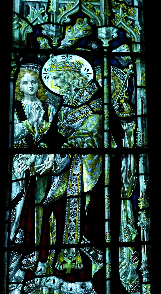 Stained glass, Church of St Lawrence, Bourton-on-the-Hill