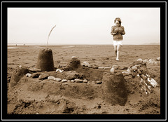 P365 Day 11 - Sandcastle Day (edenmatt) Tags: beach coast bucket sand pebbles cumbria coastline sandcastle cumberland solway silloth spade maryport allonby westcumbria