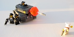 Kill it with fire!! (Calvi) Tags: yellow fire one 1 kill tank with lego awesome explosion barrel terrorist before it double again than shotgun yet rangers better rocketlauncher upgraded sawn g36k brickarms insergent