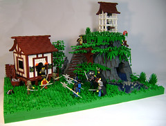 Ninja, the tea party is over! (DARKspawn) Tags: house castle japanese lego tea ninja samurai oriental hitorical