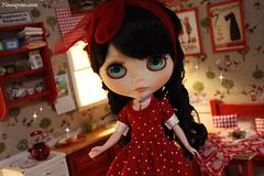 Lu custom Blythe + Diorama