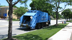 City of Chicago Department of Streets and Sanition Autocar heavy duty garbage truck. River Grove Illinois. June 2010.