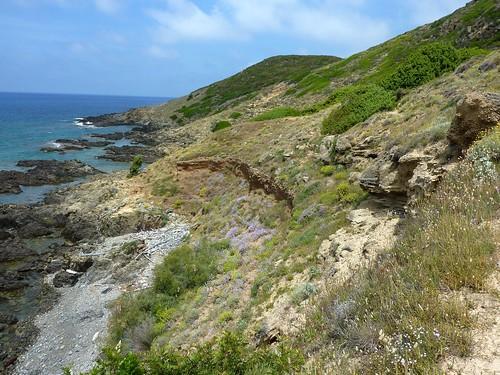 Falaise de sable de Punta di Corbu