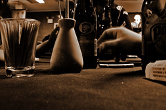 cigarette (Vercevu) Tags: sepia cerveza polar cigarro mondadientes
