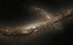 Future Sky - Milkomeda's Frantic Emergence (LLacertae) Tags: red green stars flow glow time zoom map 360 gas projection andromeda galaxy future infrared dust lmc collision spitzer 2mass galacticcenter sulzenauer wholesky homegalaxy billionyears dwarfgalaxies milkomeda