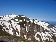表大雪の山並み