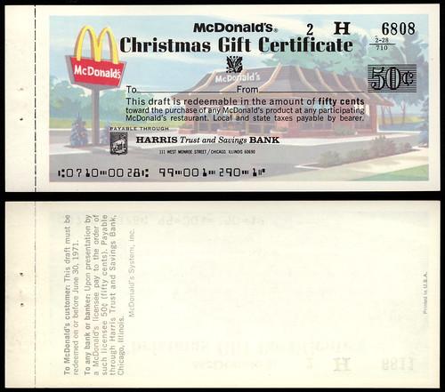 mcdonald's - mcdonald's gift certificate - 1983 | coming fro… | flickr